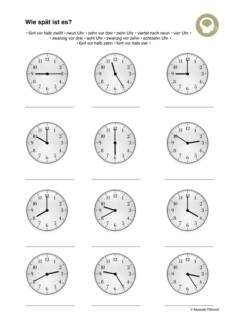 Uhr lesen