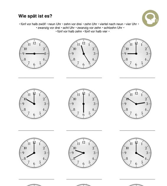 Uhr Lesen Aphasie Madoo Net