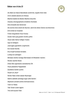 Sätze von A bis Z
