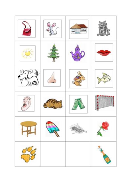 Bilder-Memory Reimwörter