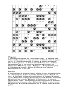 Kreuzworträtsel für leichte Aphasien und LRS