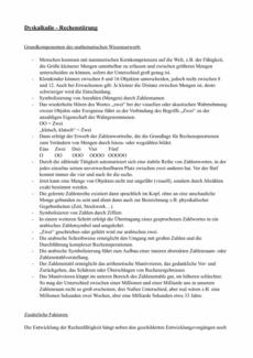 Informationen zur Dyskalkulie