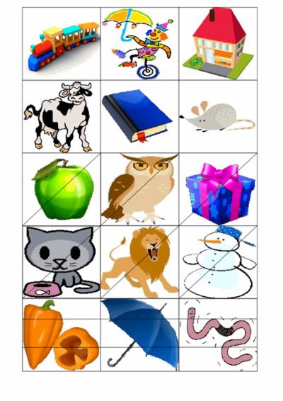 Bildkarten zum Silbenklatschen