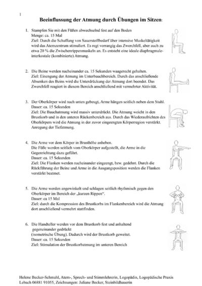 Atemübungen im Sitzen