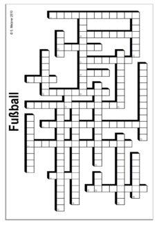 Kreuzworträtsel Fussball