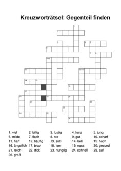 Kreuzworträtsel Gegenteil