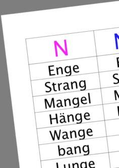 Differenzierung [n] und [ng]