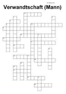 Kreuzworträtsel Verwandtschaft