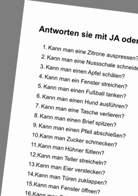 Perverse Fragen Die Man Nur Mit Ja Oder Nein Beantworten Kann