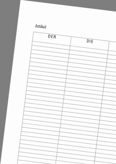 LRS: Artikel-Tabelle