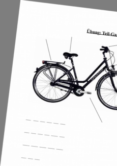 Teil-Ganzes zum Thema Fahrrad