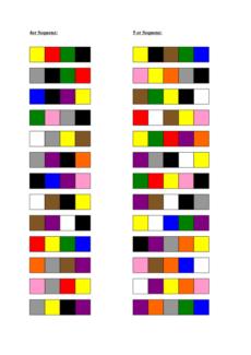 Farbsequenzen