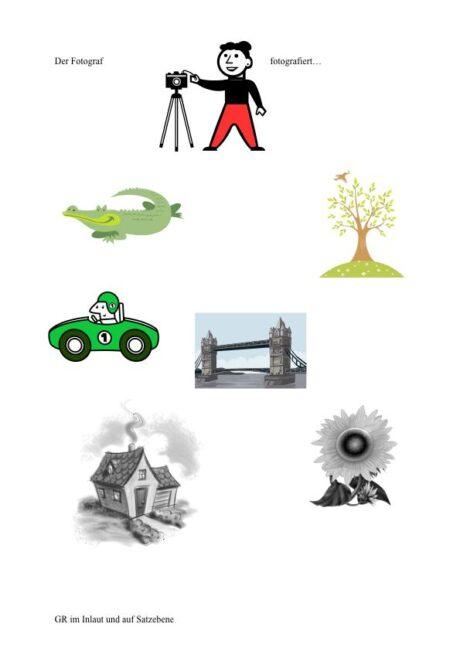 Konsonantenverbinungen üben mit Fotograph