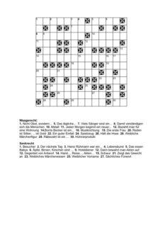 Kreuzworträtsel für Aphasien
