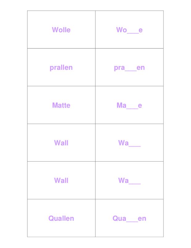 Kurzer oder langer Vokal? - Kindersprache, LRS - madoo.net