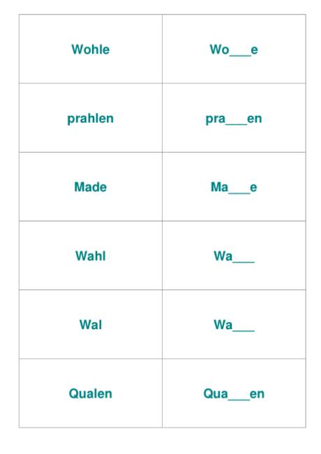 Vokaldifferenzierung langer Vokal