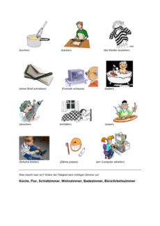 Zuordnung: Tätigkeiten im Haus
