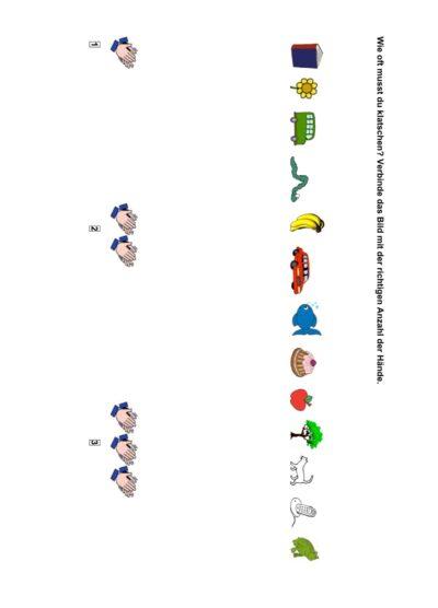 Phonologische Bewusstheit: Silbenklatschen