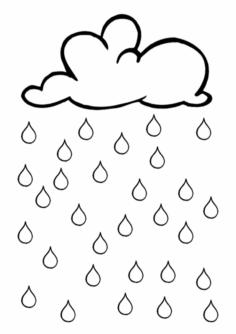 Ansaugübung Regentropfen