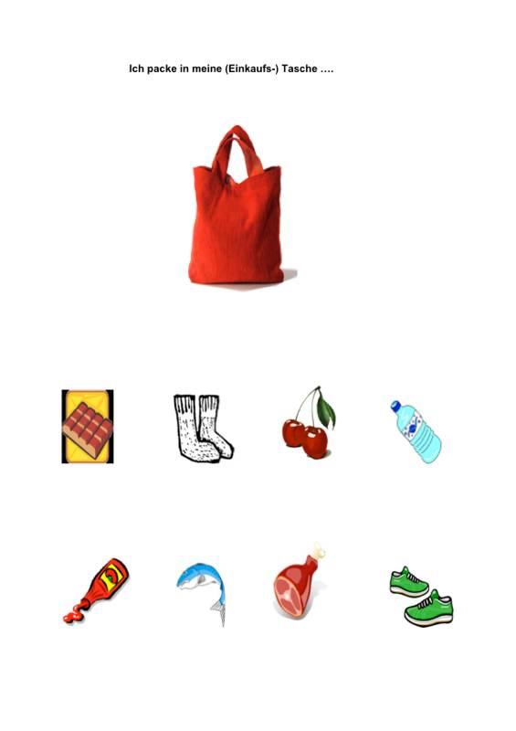 Ich packe meine Tasche