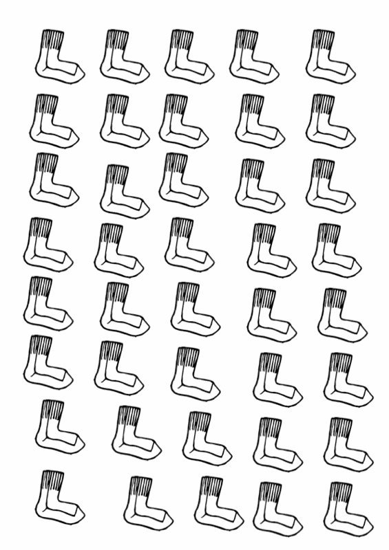 Sammlungen mit Ansaugübung: Socken und Strümpfe - Dyslalie - madoo.net