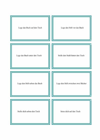 Präpositionen: Karten (2)
