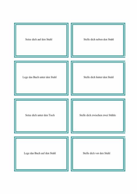 Präpositionen: Karten (1)