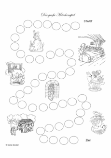 Spielplan für ein Märchenspiel