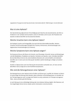 Beratungsbogen: Was ist Aphasie?