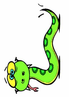 Spiel mit Schlange für Dyslalie