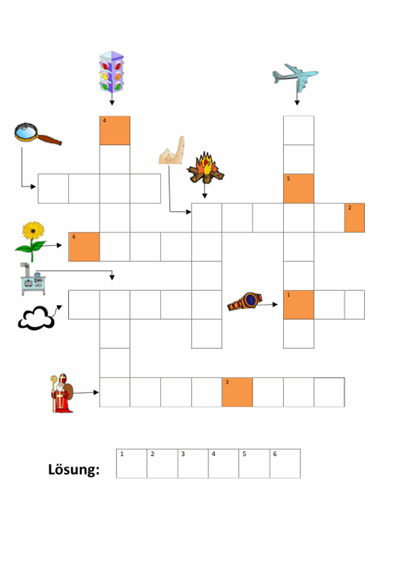 Sammlungen mit Kreuzworträtsel mit Bildern - Aphasie, LRS - madoo.net