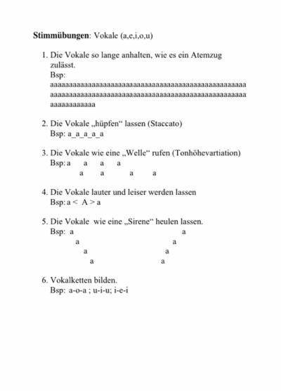 Stimmübungen mit Vokalen