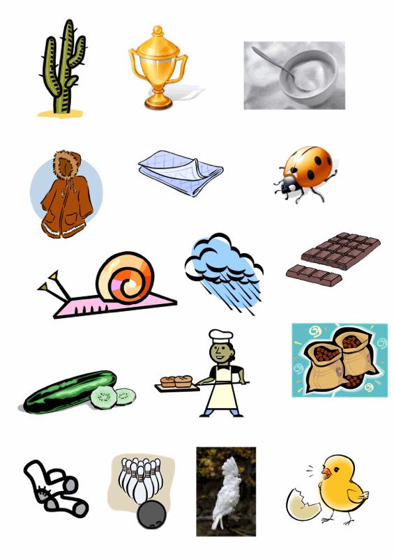 Bildkarten: Wörter mit [k]