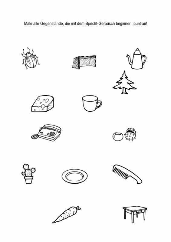 Hausaufgabenblätter [k] - [t] im Anlaut - Dyslalie - madoo.net
