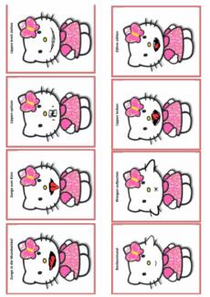 Mundmotorik-Karten: Hello Kitty