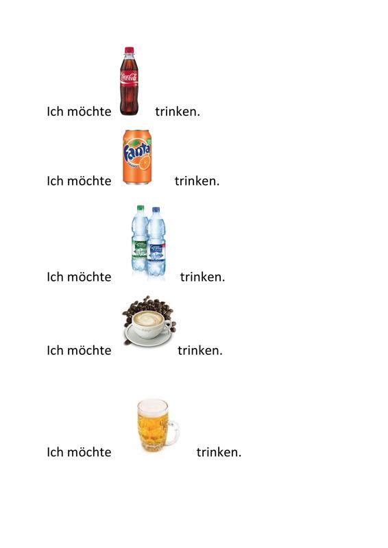 Standardsätze mit Getränken