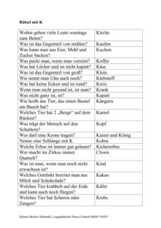 Rätsel mit [k] bei Wortfindung