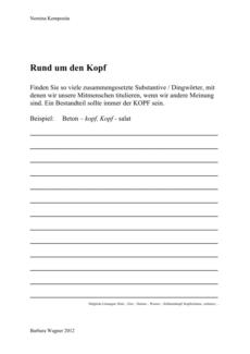 "Komposita mit ""Kopf"""