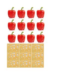 Spiel: Pizza belegen für die Arbeit am Wortschatz
