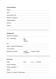 Anamnesebogen für MFS