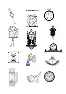 Wortfindung: Uhren