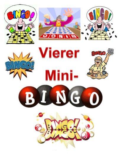Spiel: Vierer-Mini-Bingo bei Dyslalie