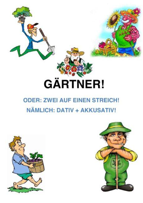 Spiel: Gartenarbeit für Dativ und Akkusativ Teil 4