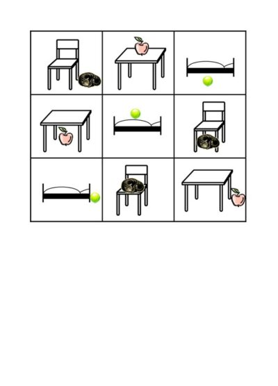 Spiel: Bingo für Präpositionen