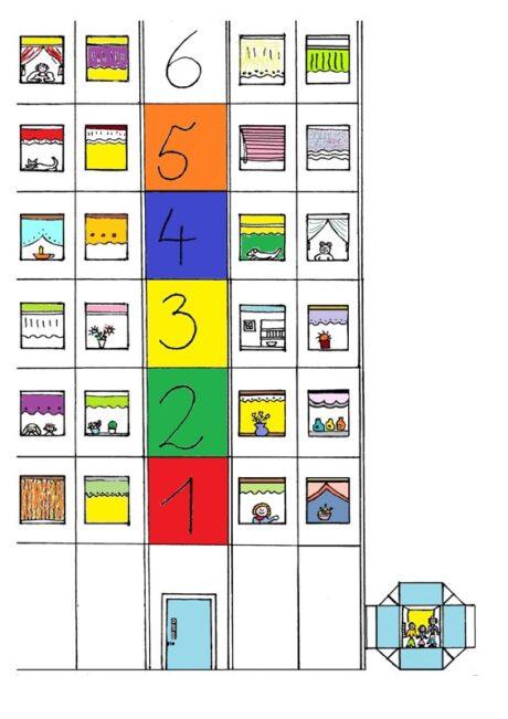 Spiel: Puste-Fahrstuhl (bunt)