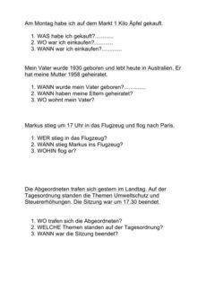 Aphasie: Textverständnis-Übung