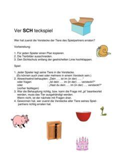 Spiel: Ver-SCH-teckspiel