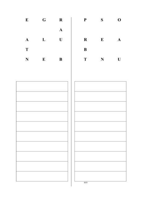 Aphasietherapie: Wörter aus Buchstaben (8)
