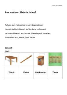 Kategorisieren: Aus welchem Material ist…?
