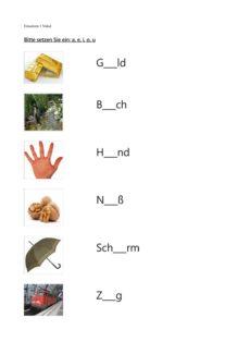 Aphasie: Vokale einsetzen, mit Bild